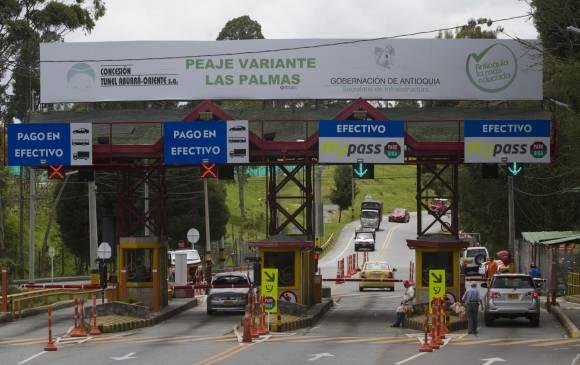 Esta caseta de peaje, en la vereda Pantanillo, de Envigado, será trasladada a los límites con Rionegro.