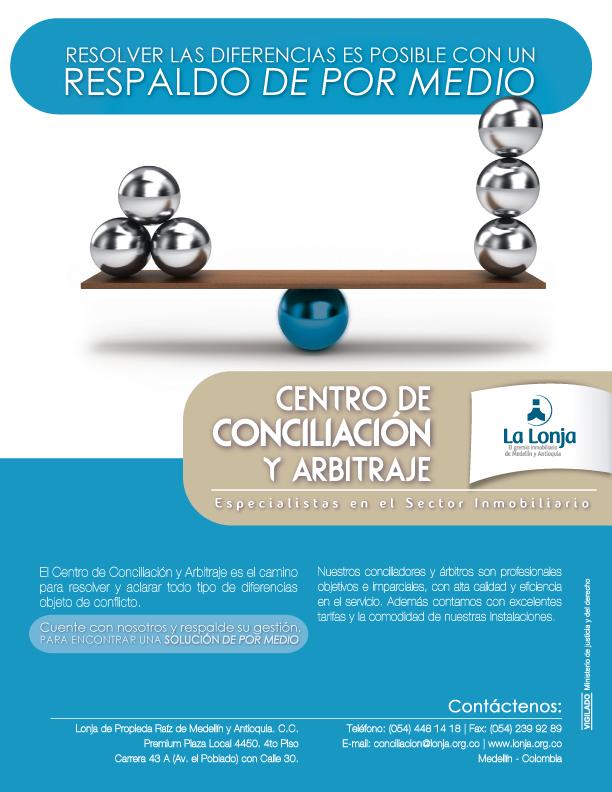 Centro de conciliacion y arbitraje de la Lonja de propiedad raiz